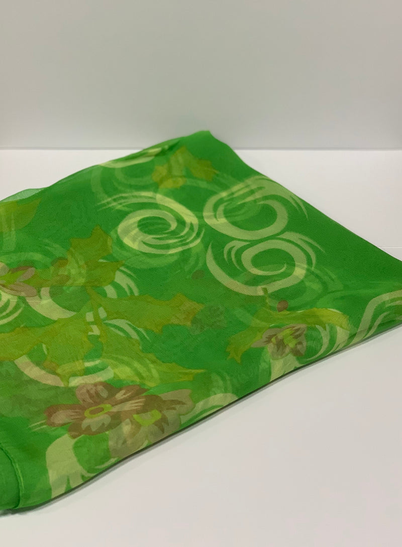 Light Green Holly Swirl Hijab | Long Hijabs Online