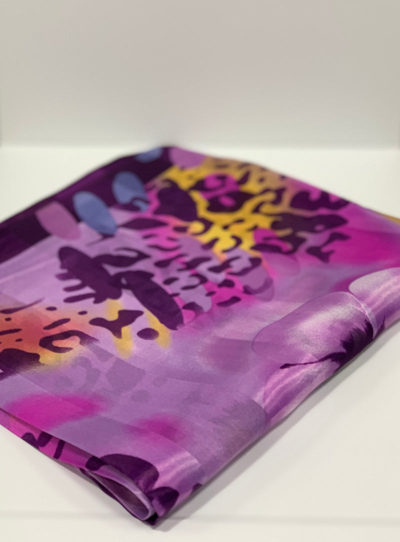 Dark Purple Cheetah Print Hijab | Printed Hijabs