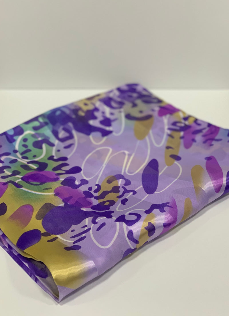 Light Purple Cheetah Print Hijab | Printed Hijabs