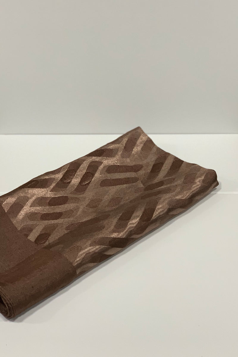 Brown Jacquard Pattern Square Hijab Online
