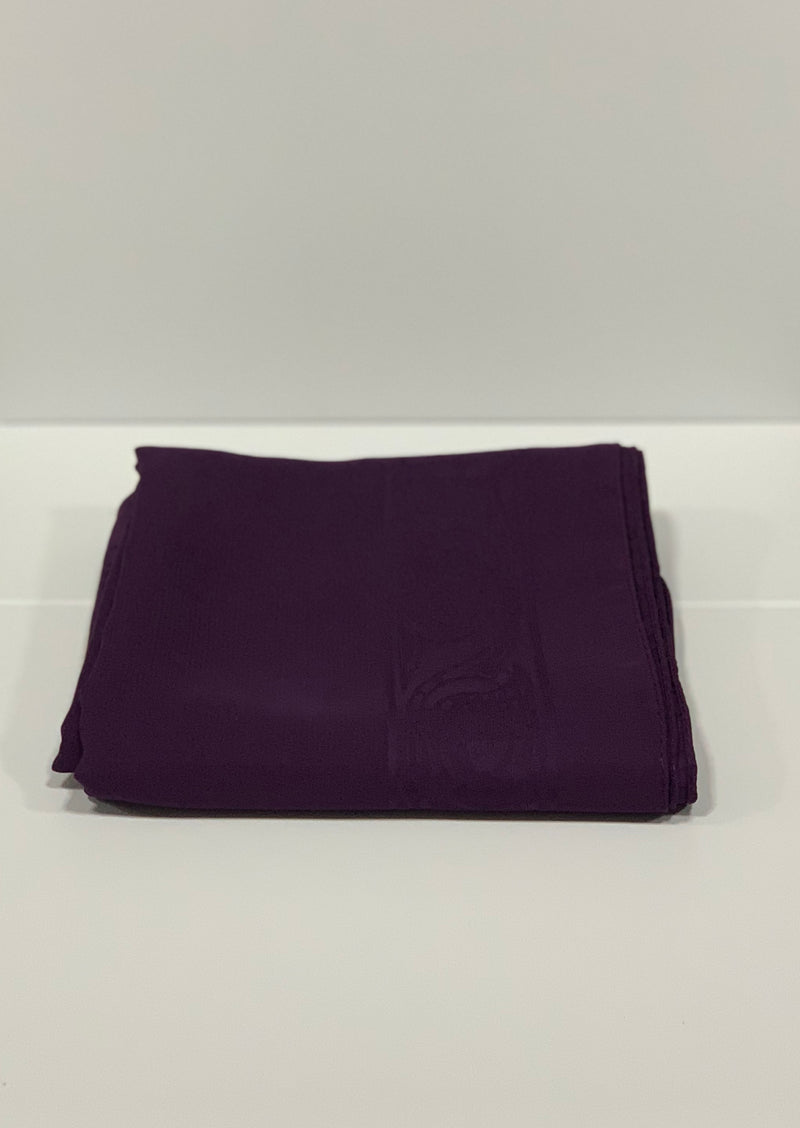 Purple Bordered Square Chiffon Hijab Online