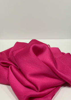 Fuchsia Square Plain Crepon Hijab UK