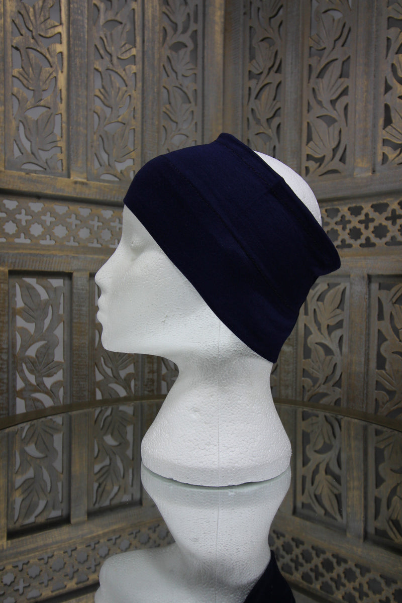 Navy Half Tube Islamic Clothing Accessories