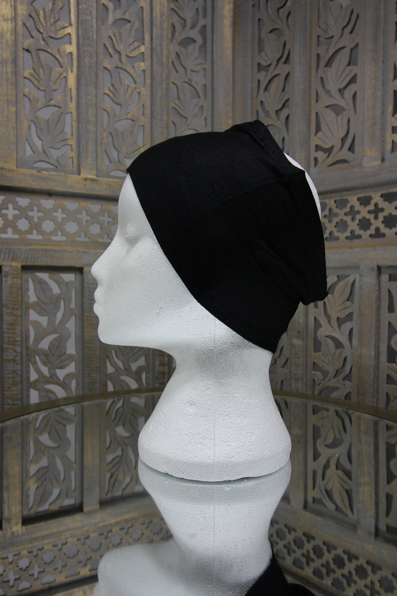Black Half Tube Islamic Clothing Accessories