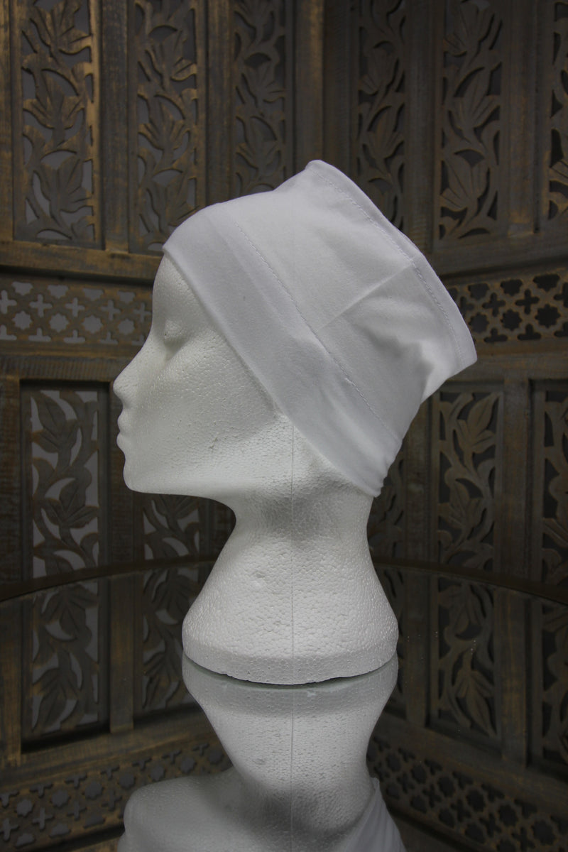 White Half Tube Islamic Clothing Accessories