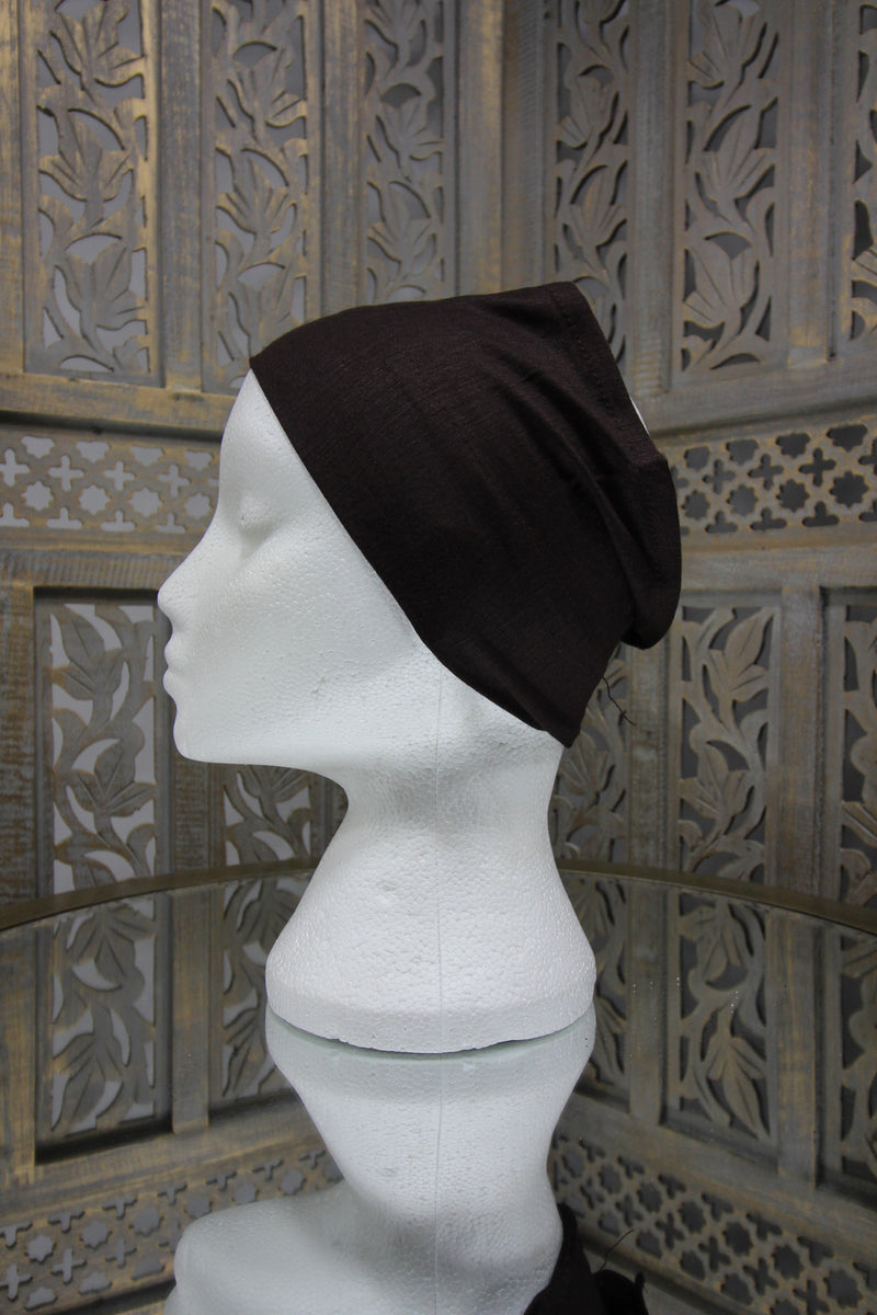 Brown Half Tube Islamic Clothing Accessories