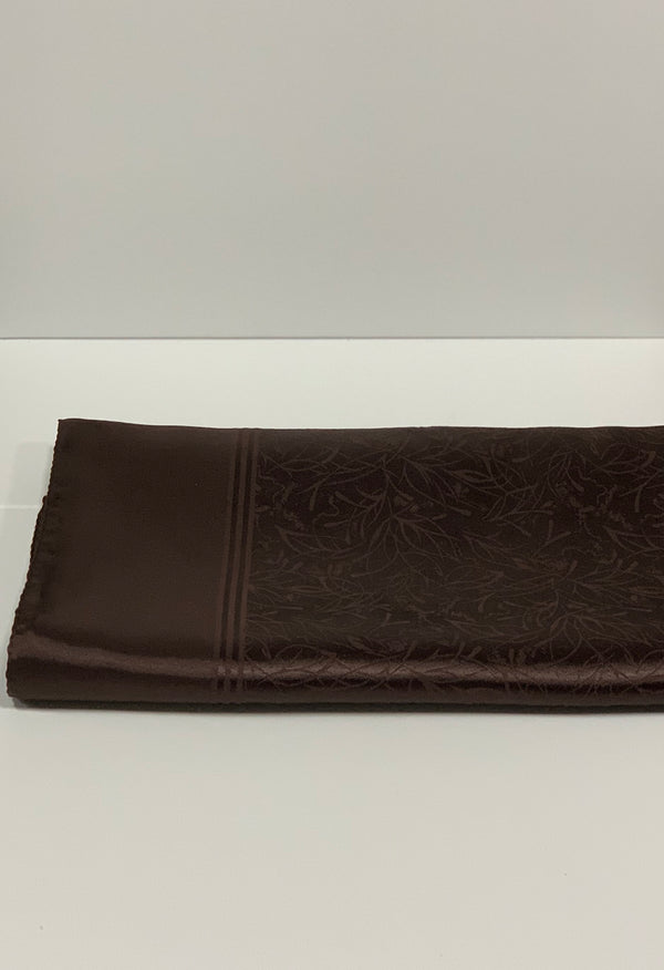 Brown Satin Self Print Hijabs UK