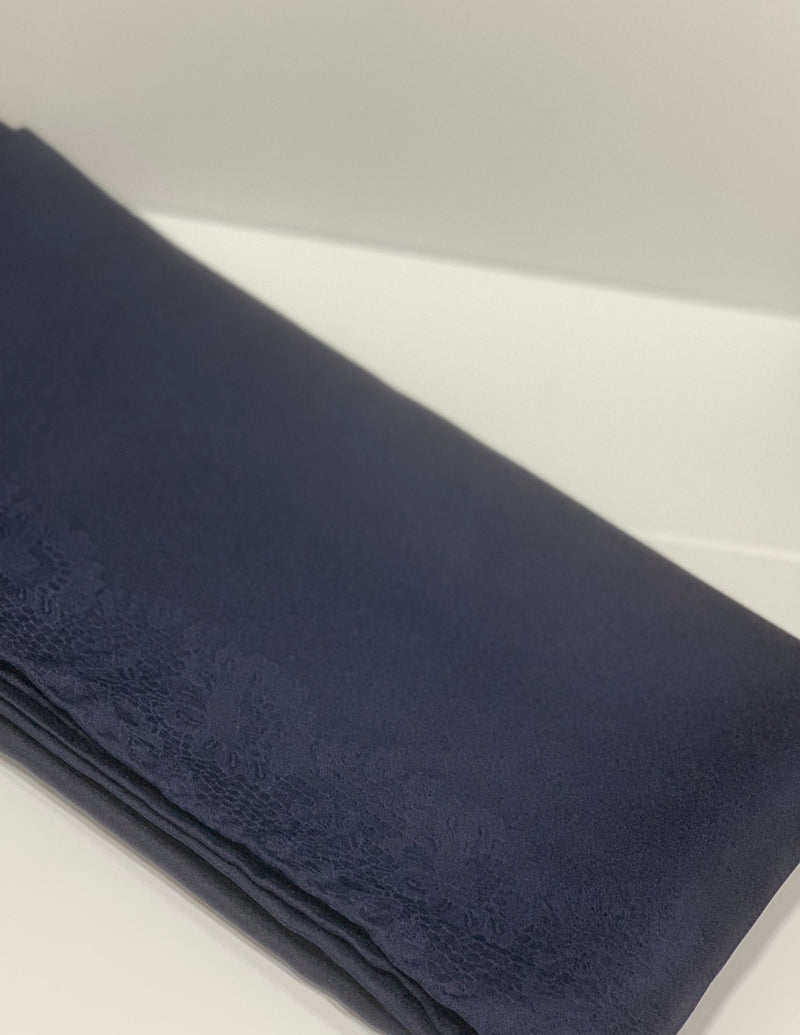 Navy Satin Square Hijab UK