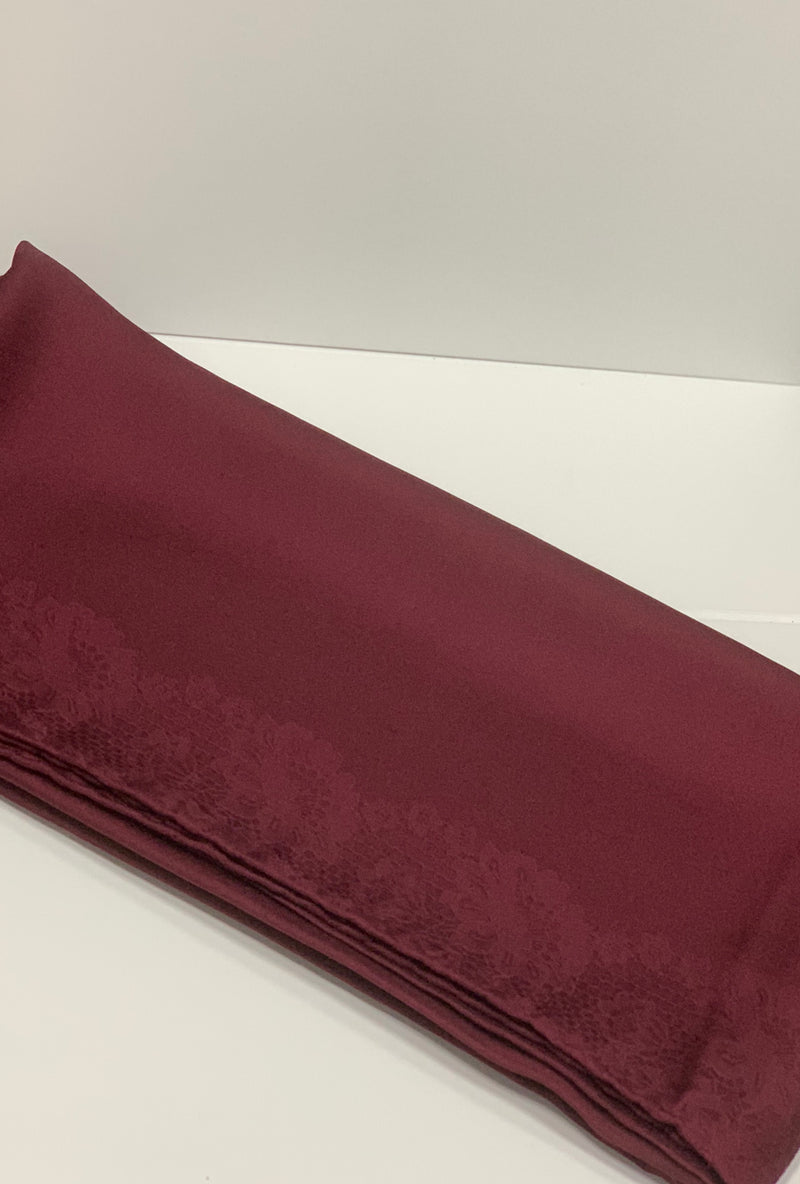 Maroon Satin Square Hijab UK