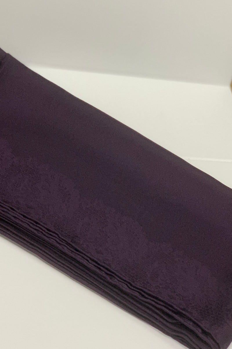 Purple Satin Square Hijab UK