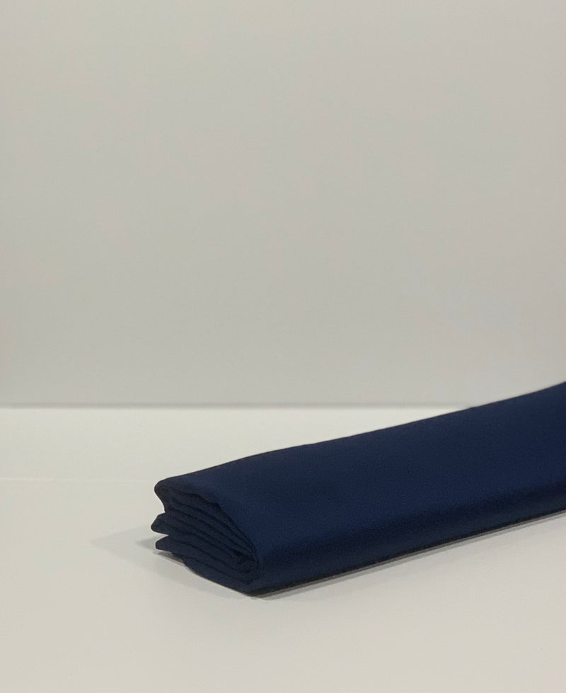 Navy Plain Satin Square Hijab Online