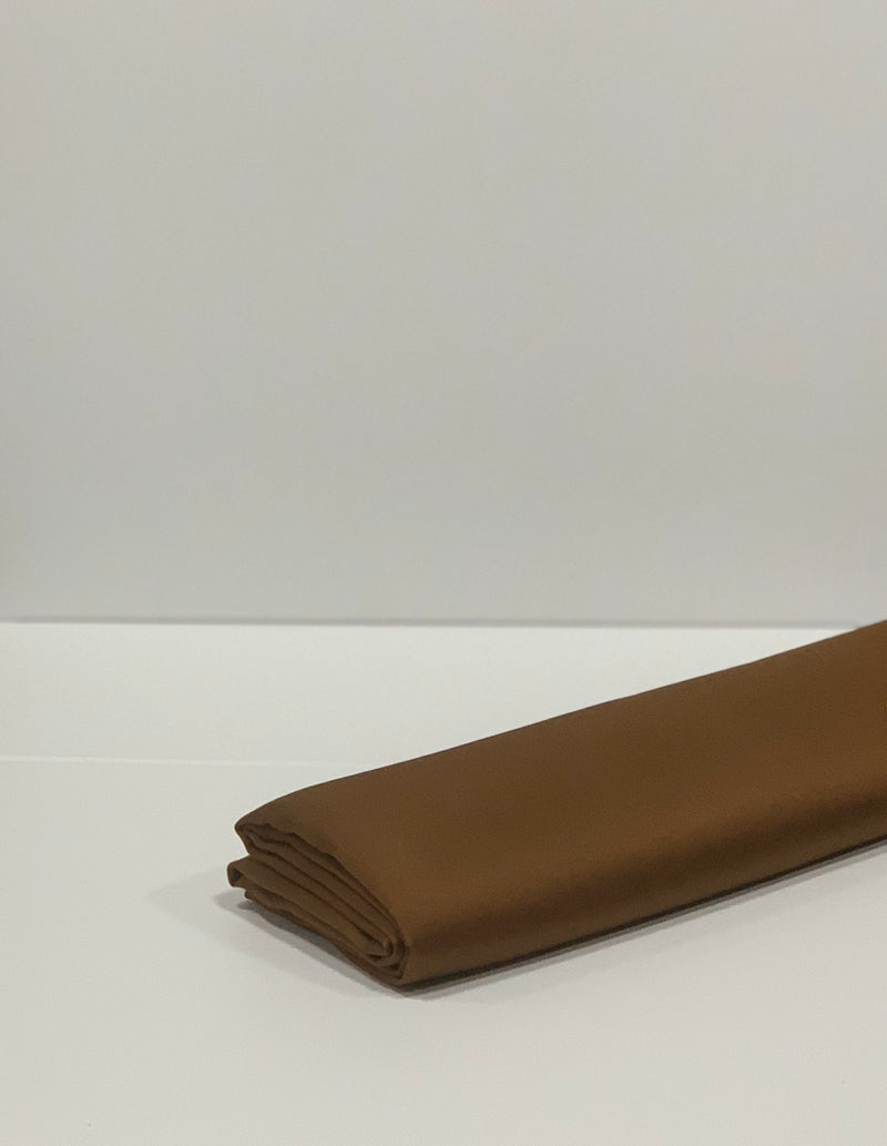 Brown Plain Satin Square Hijab Online