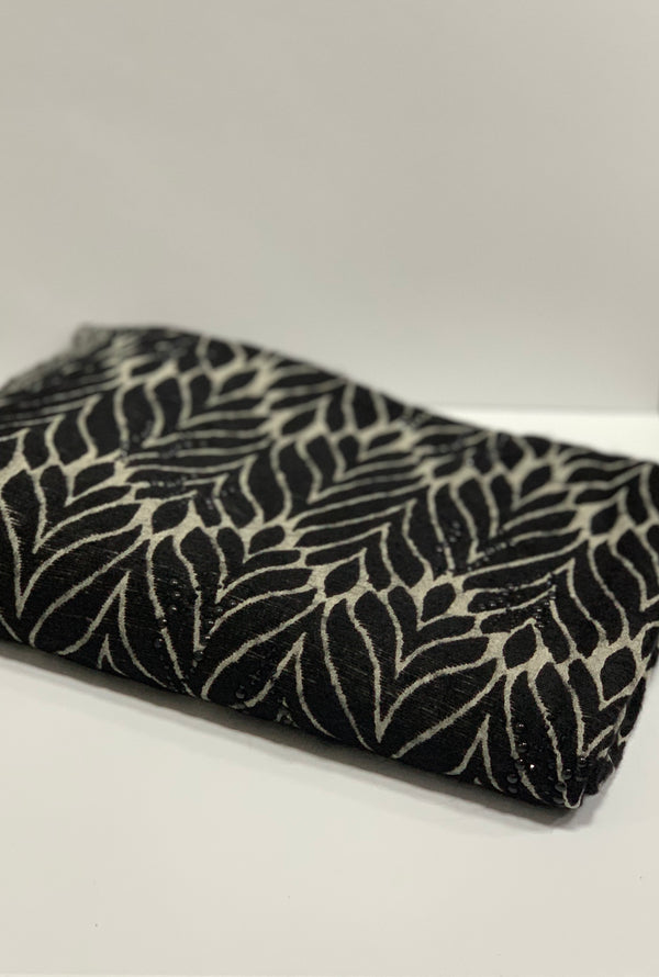 Black Kashkha Patterned Hijab UK