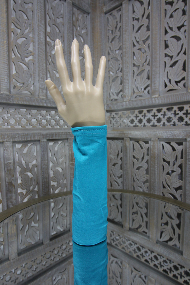 Turquoise Long Sleeve Islamic Clothing Accessories Online