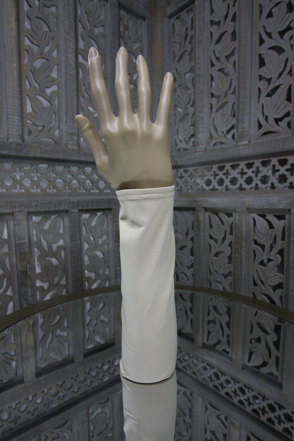 Beige Lycra Sleeve Islamic Clothing Accessories Online