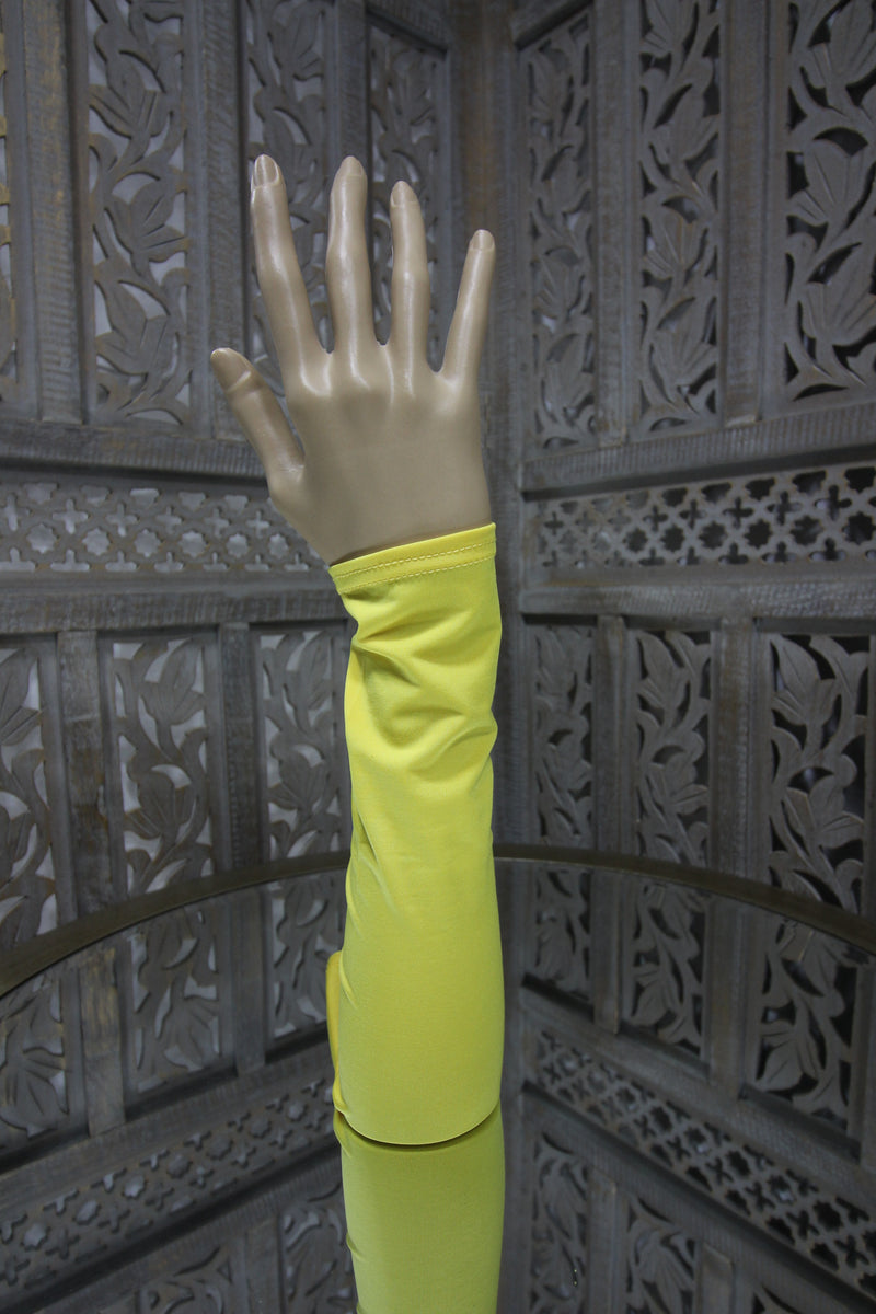 Yellow Lycra Sleeve Islamic Clothing Accessories Online