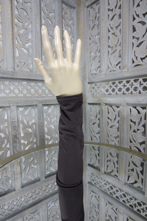 Brown Lycra Sleeve Islamic Clothing Accessories Online