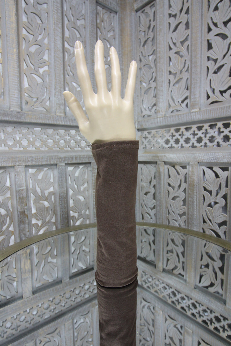 Brown Long Sleeve Islamic Clothing Accessories Online