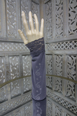 Grey Sleeve Islamic Clothing Accessories Online