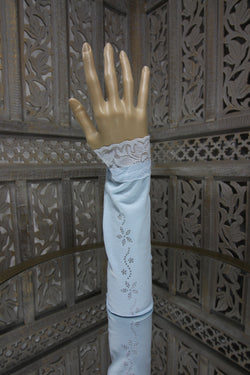 Light Blue Sleeve Islamic Clothing Accessories Online