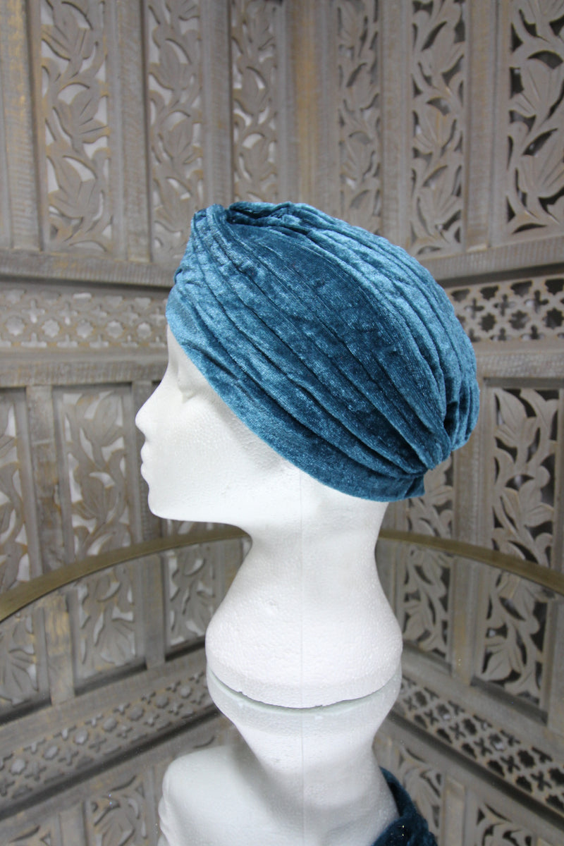 Turquoise Velvet Turban Islamic Clothing Online