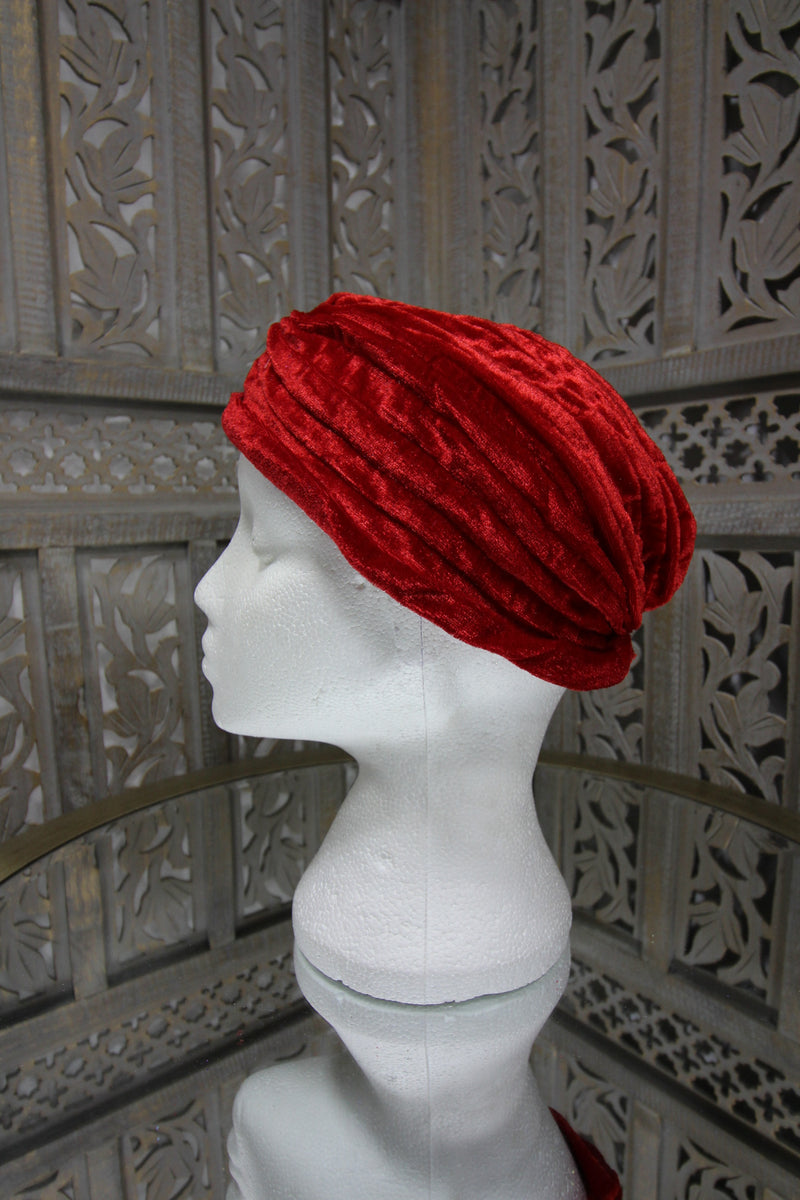 Red Velvet Turban Islamic Clothing Online