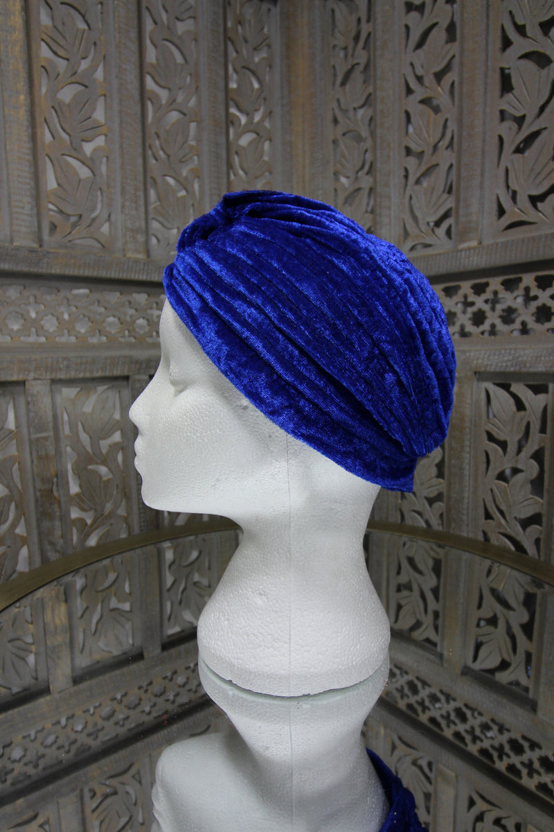 Blue Velvet Turban Islamic Clothing Online