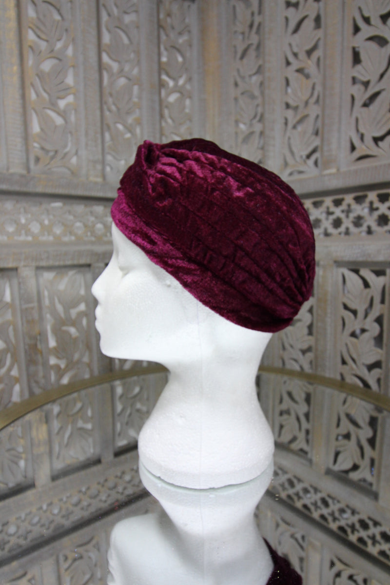 Maroon Velvet Turban Islamic Clothing Online