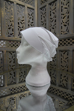 White Plastic Front Under Scarf Lycra Hijab UK