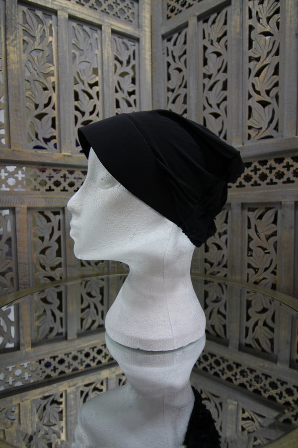 Black Plastic Front Under Scarf Lycra Hijab UK