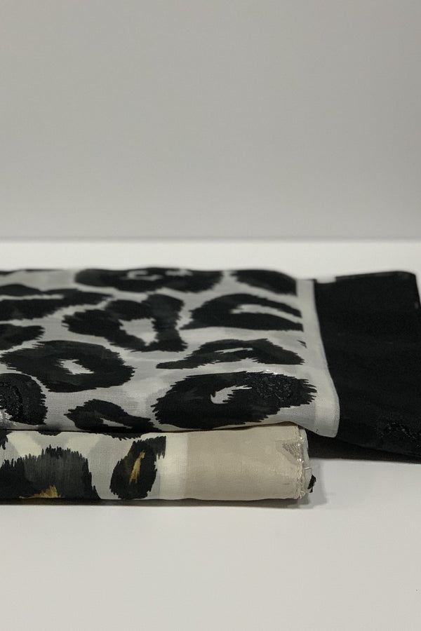 Cotton Leopard Square Hijab