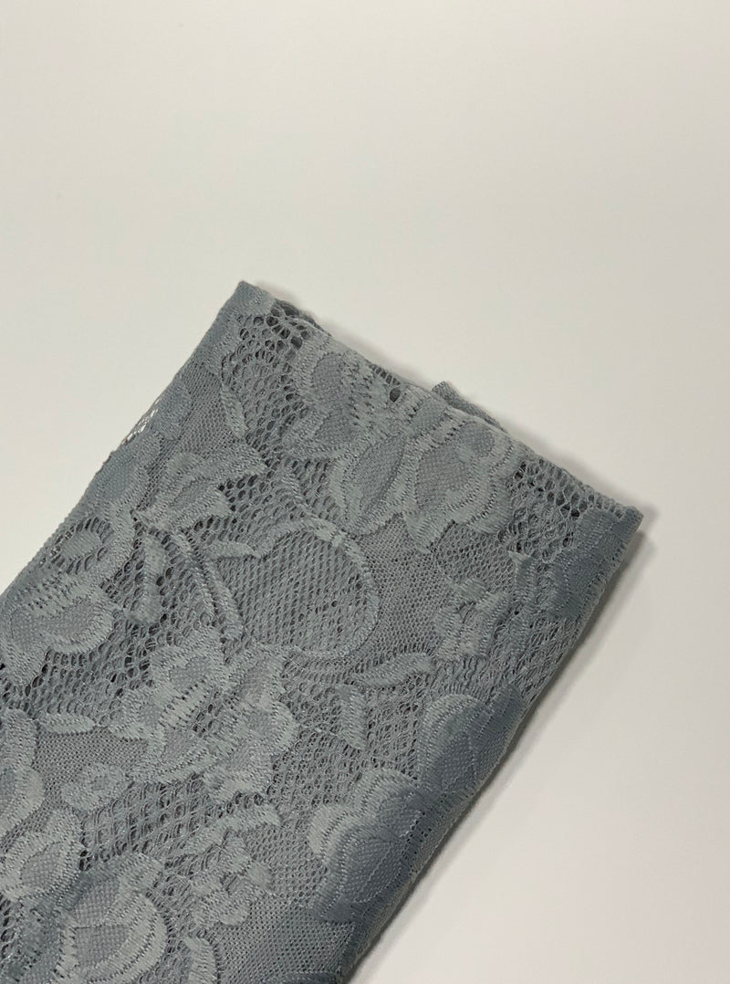 Grey Lily Lace Hijab UK