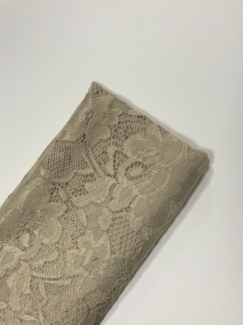 Beige Lily Lace Hijab UK