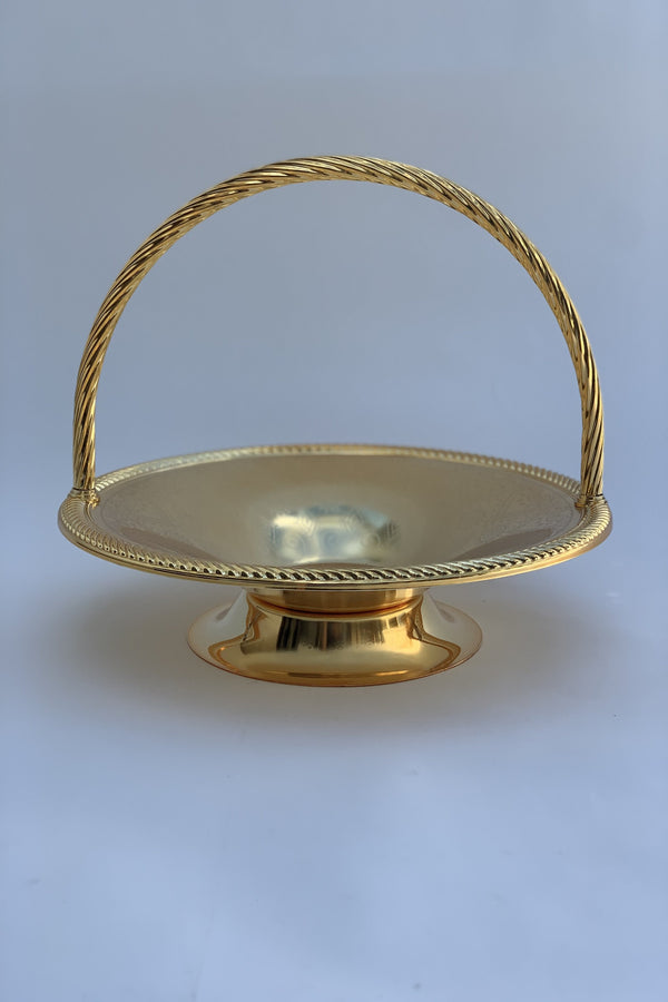 Gold Effect Polished 33 cm Serving Basket