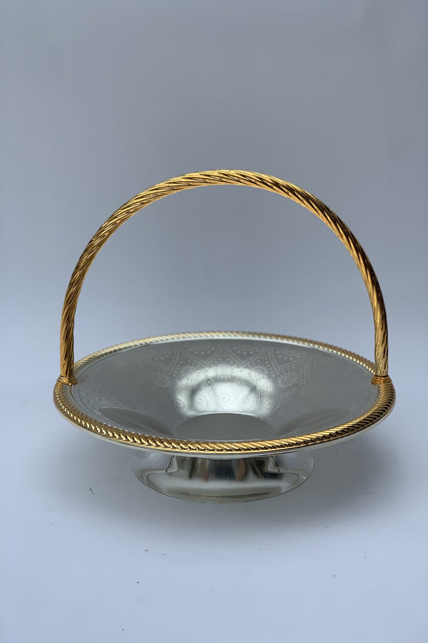 Silver/Gold Effect Polished 33 cm Serving Basket