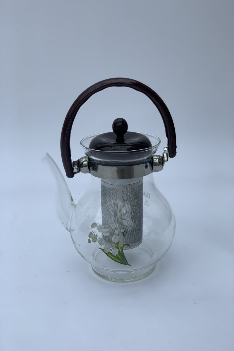 Heat Resistance Glass Teapot with Filter