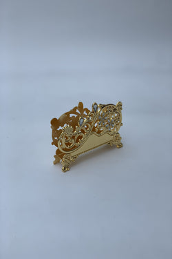 Gold Effect Polished Napkin Holder