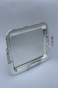 Rectangle Silver Polished Tray