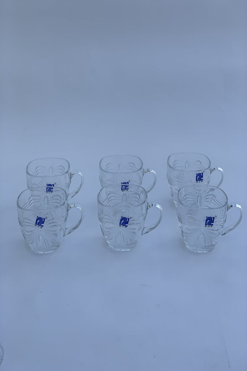 Bow Glass Tea Cups