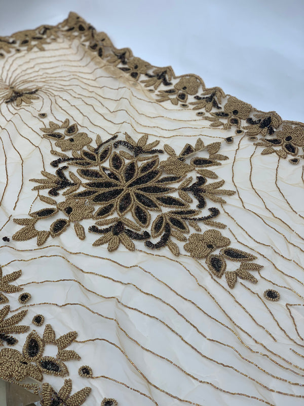 Gold Beaded Dining Table Runner