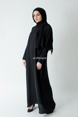 Black Plain Closed Abaya Online