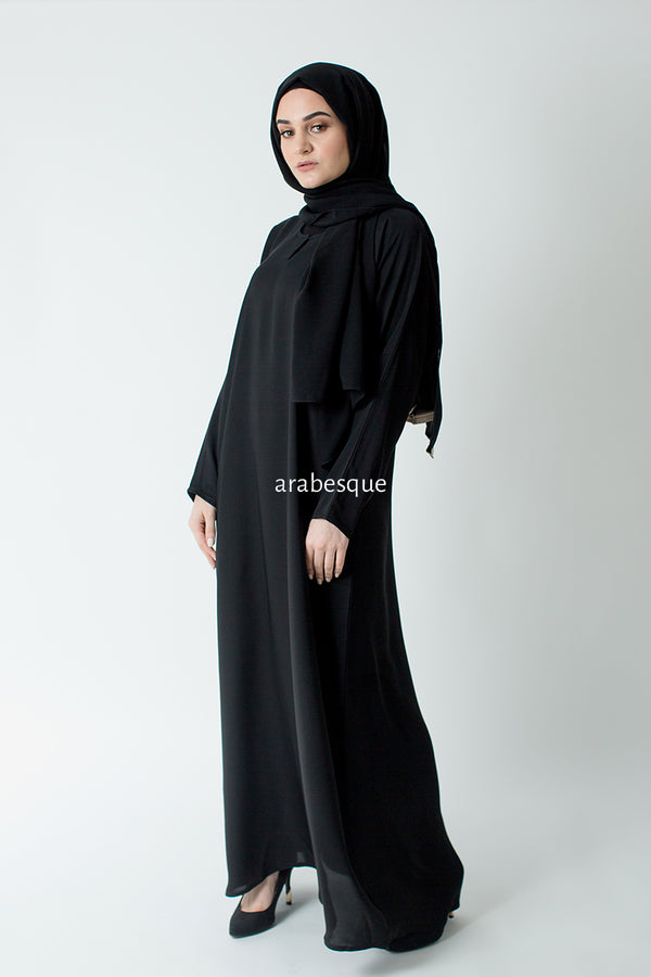 Black Plain Closed Abaya UK