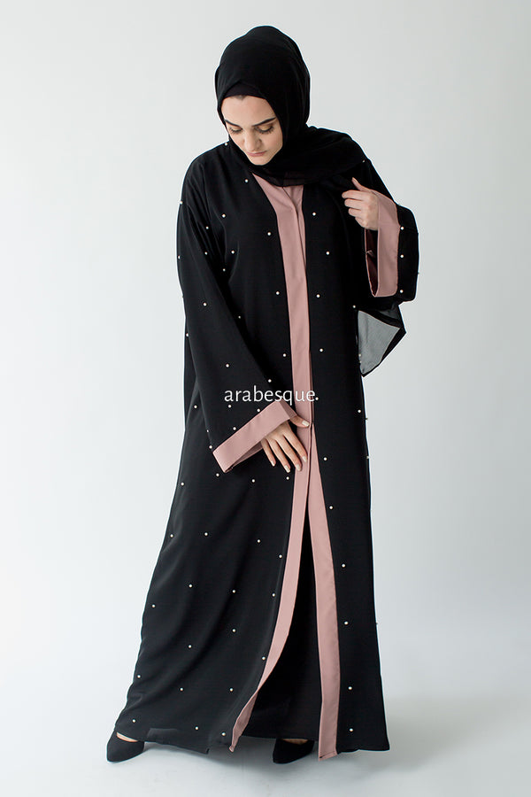 Pearl Blush Open Abaya UK