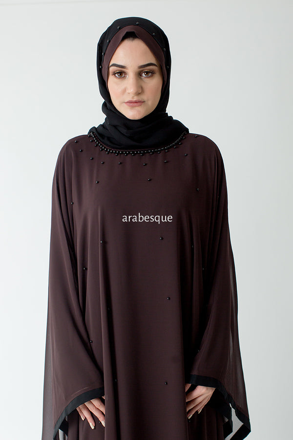 Brown Batwing Closed Abaya Online