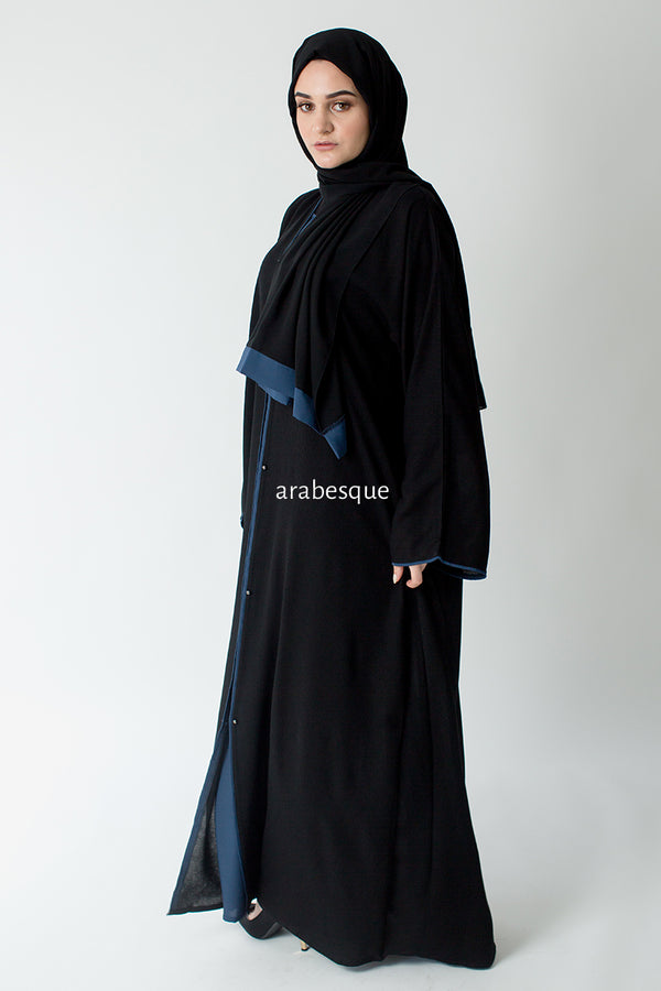 Najwa Blue Open Abaya UK
