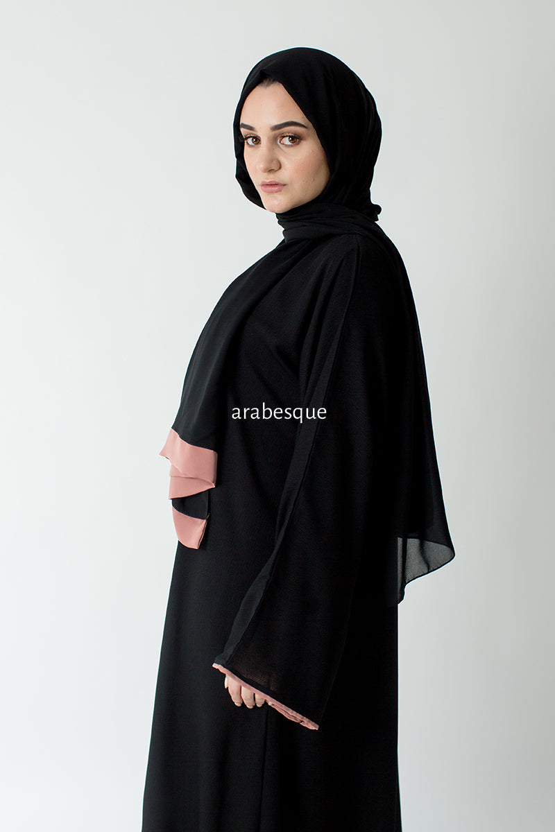 Najwa Blush Open Abaya UK