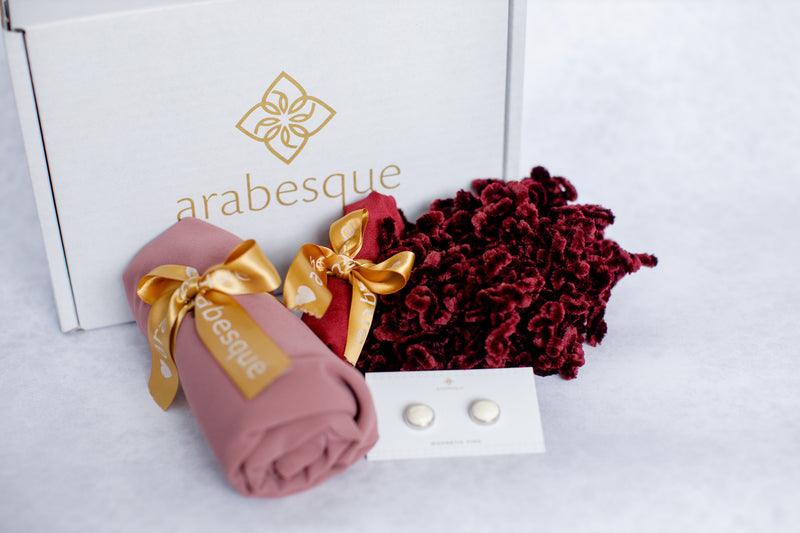Georgette Hijab and Accessories Gift Set
