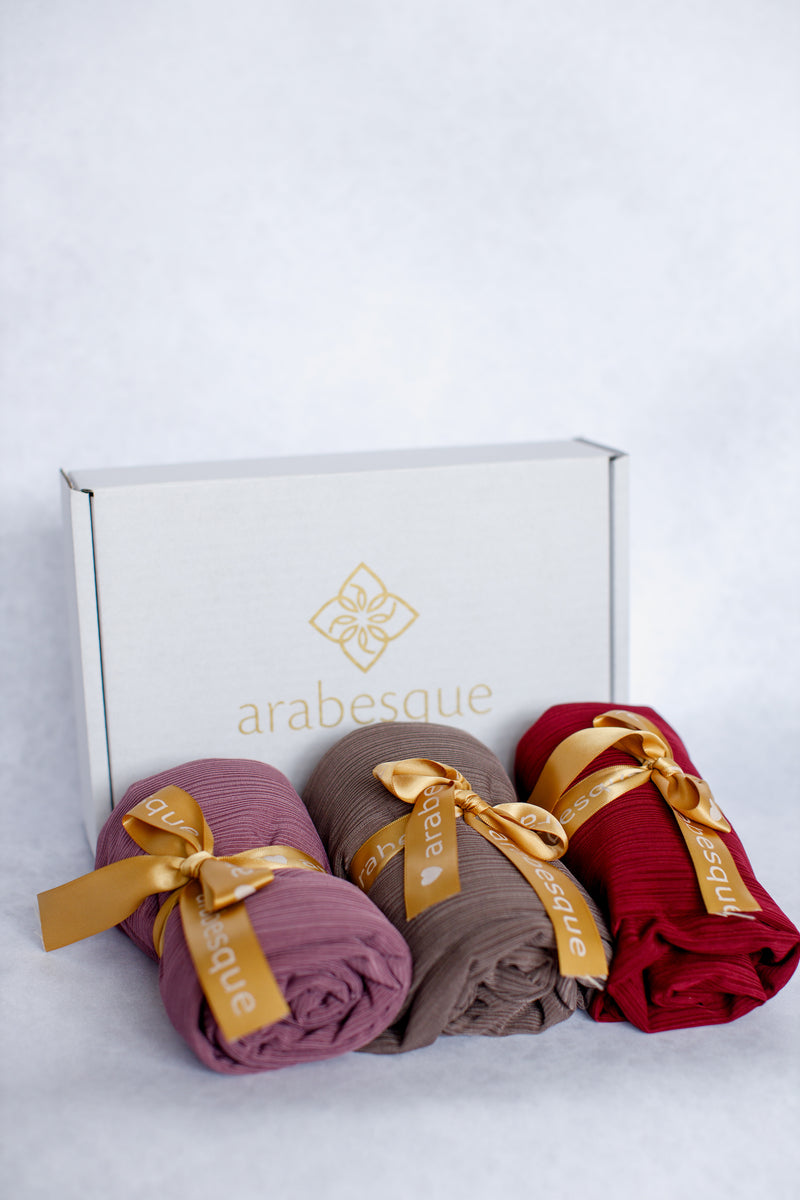 Ribbed Jersey Hijab Gift Set