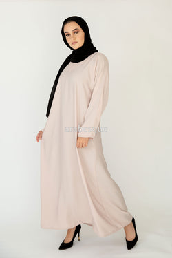 Cream Plain Closed Abaya UK