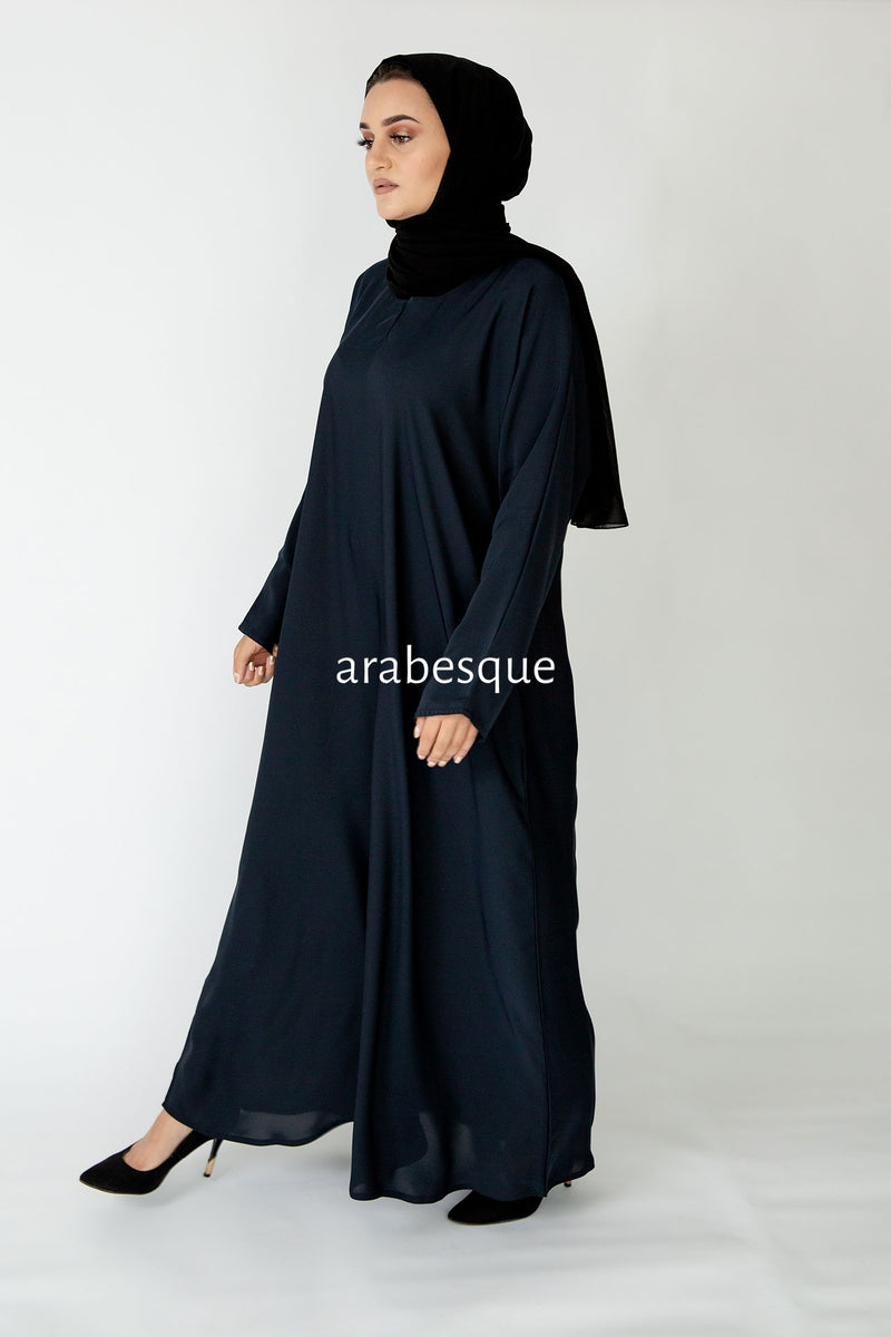 Navy Plain Closed Abaya UK